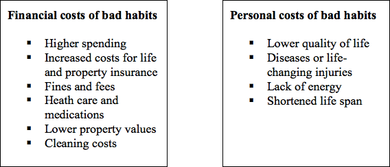 The real cost of bad habits