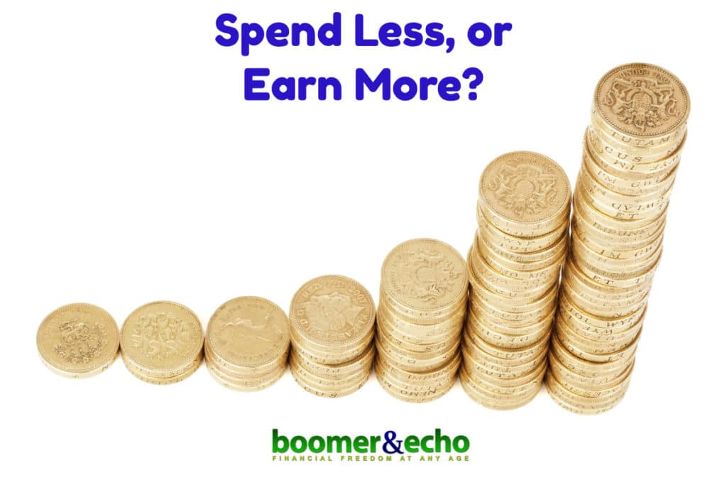 Spend Less or Earn More?