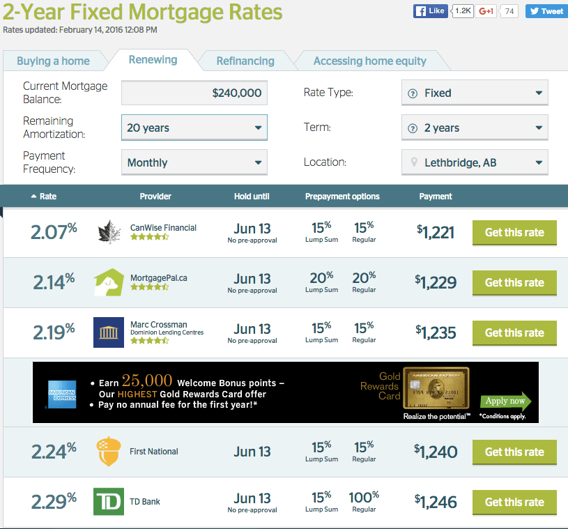 2-year fixed rate mortgage