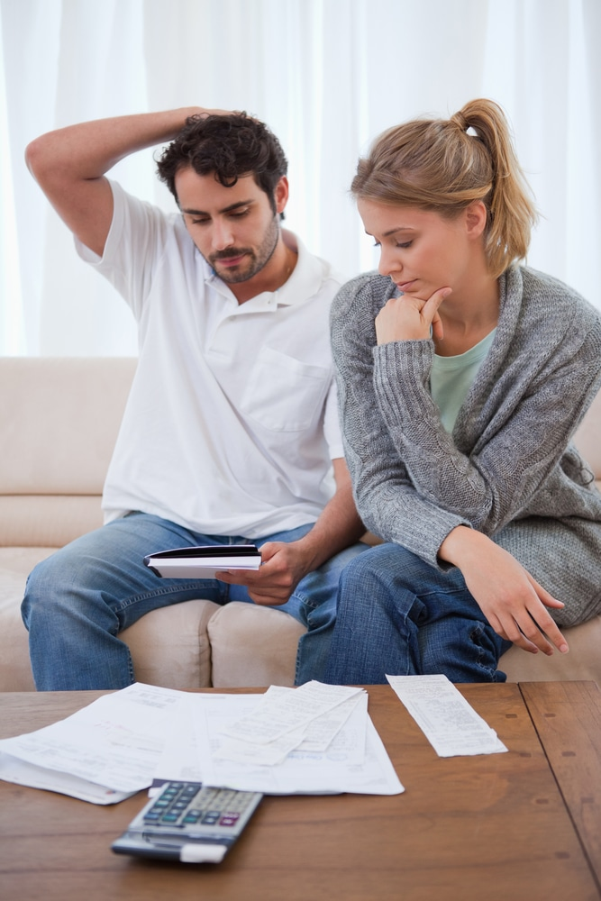 Couples dealing with debt