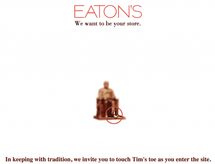 Eaton's website 1996