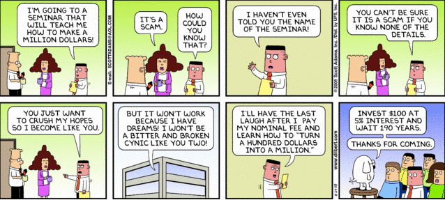 Dilbert investing lessons