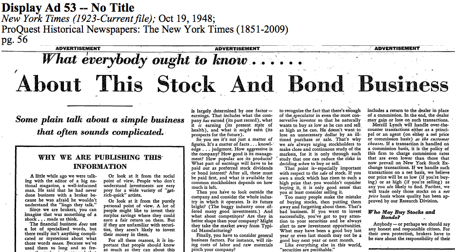 What Everybody Ought To Know About This Stock and Bond Business