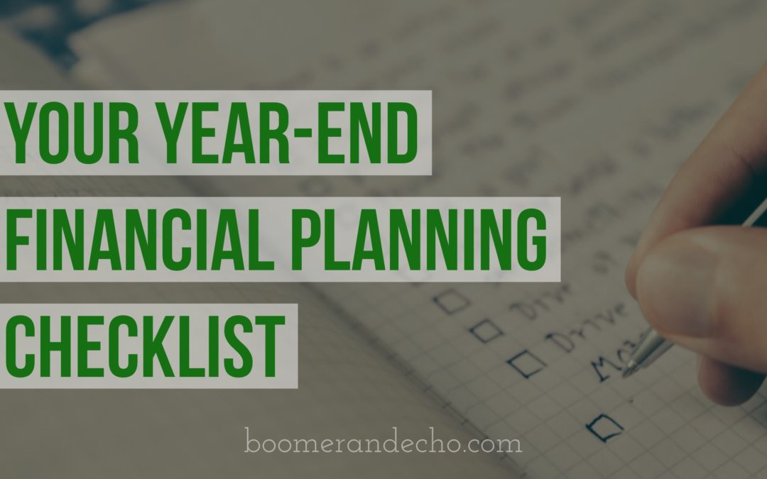 your year end financial planning checklist