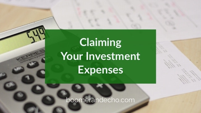 Claiming Your Investment Expenses