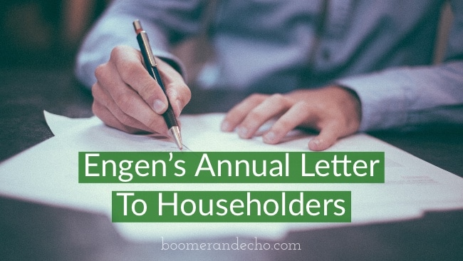 Engen's Annual Letter To Householders