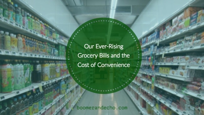 Our Ever-Rising Grocery Bills and the Cost of Convenience