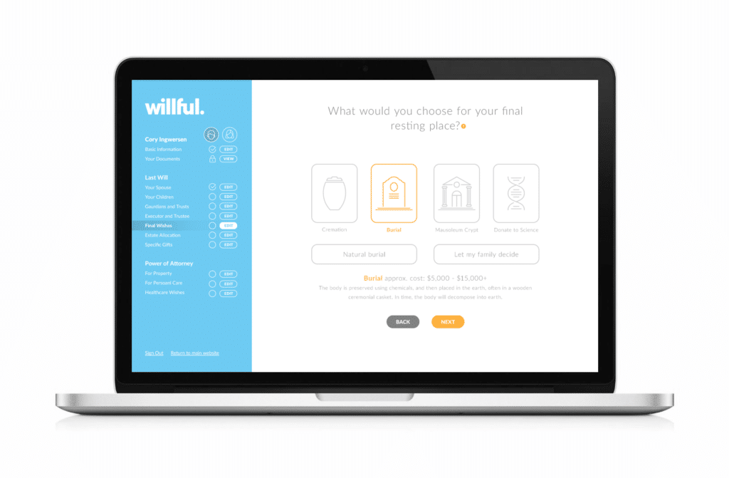 Willful Application (Laptop Mockup) 2