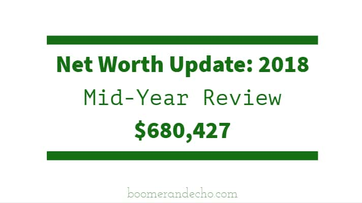Net Worth Update 2018 Mid-Year Review